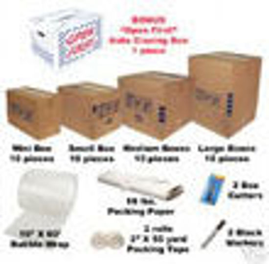 Picture of Moving Packing Kit #1/ 35Cartons+Supplies Free Shipping