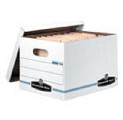 """Picture of File Storage Box 15 X 12 X 10"""" WHITE"""