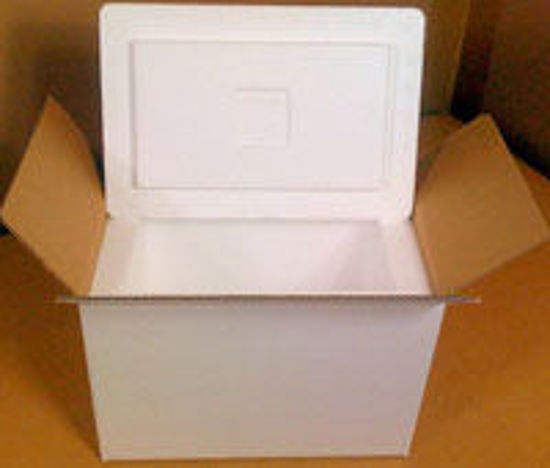 "Picture of Styrofoam Coolers Kit Includes 18 1/4 x 15 3/8 x 14"" Box SM"