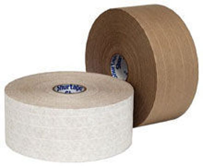 "Picture of Water Activated Reinforced Paper Tape WP 100 3"" x 450' KRAFT"