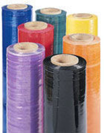 Picture of Colored Stretch Wrap - Yellow 18 IN x 1500 FT - 4 Rolls/Case