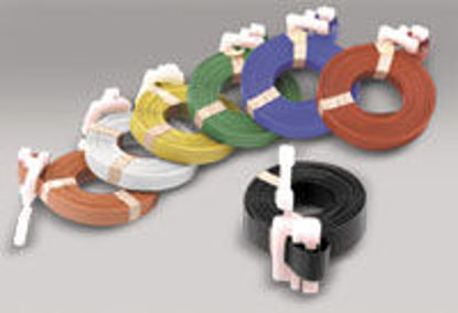 """Picture of Polypropylene Pre-Cut Strapping BLACK 1/2"""" x 17'"""