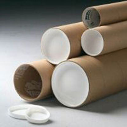 """Picture of Kraft Mailing Tubes w/End Caps - 2 1/2 X 36"""""""