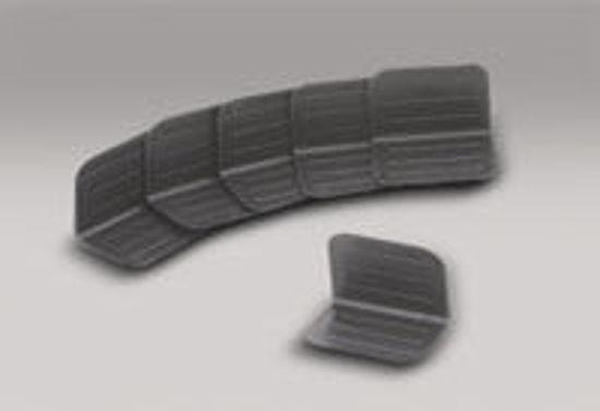 "Picture of Edge Protectors - Plastic 1000/Case - 2.5"" x 1.75"" Black"