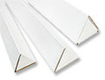 "Picture of Mailing Triangle Tubes 200 T B Flute - 3 X 18 1/4"" WHITE"