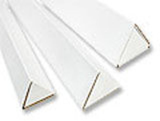 """Picture of Mailing Triangle Tubes 200 T B Flute - 3 X 36 1/4"""" WHITE"""