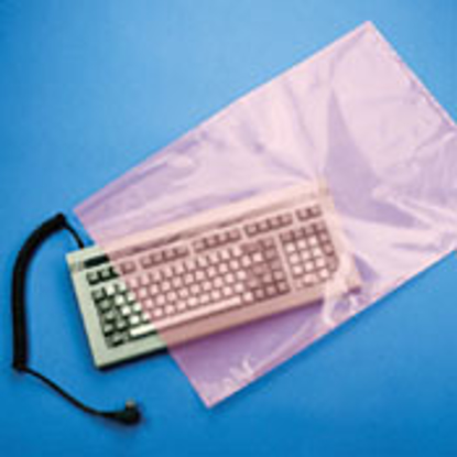 "Picture of Anti-Static Flat Poly Bags 6Mil 15"" X 18"""