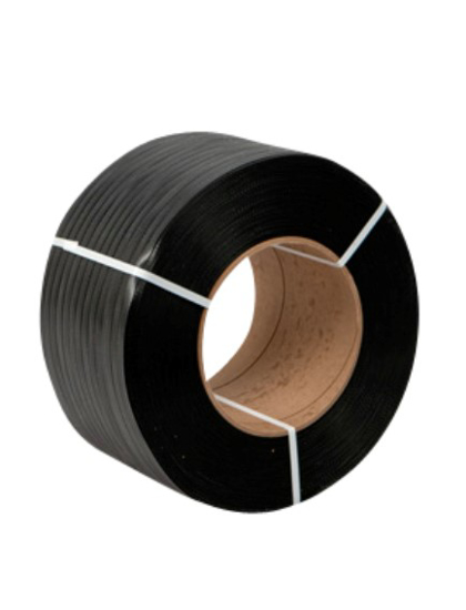"Picture of Polypropylene Strapping - 1/2"" x .020"" x 9000' Black 8"" x 8"" Core"