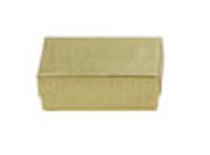 Picture of Gold Linen Jewelry Boxes - 3 1/2 x 3 1/2 x 1""