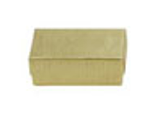 """Picture of Gold Linen Jewelry Boxes - 3 1/2 x 3 1/2 x 2"""""""