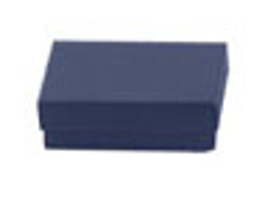 """Picture of Navy Blue Jewelry Boxes - 3 1/2 x 3 1/2 x 1"""""""