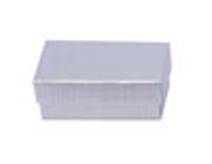 """Picture of Silver Linen Jewelry Boxes - 3 1/2 x 3 1/2 x 2"""""""