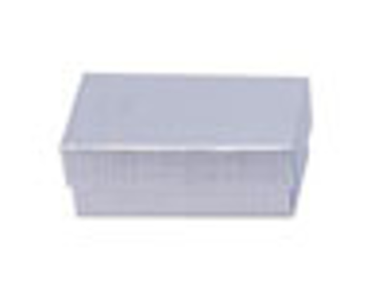 Picture of Silver Linen Jewelry Boxes - 3 1/2 x 3 1/2 x 2""