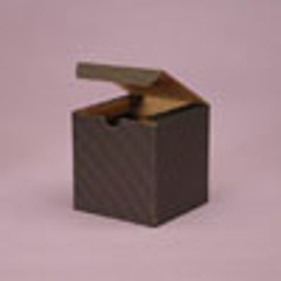 """Picture of Tinted Gift Boxes 3 X 3 X 3"""" Black Pinstripe"""