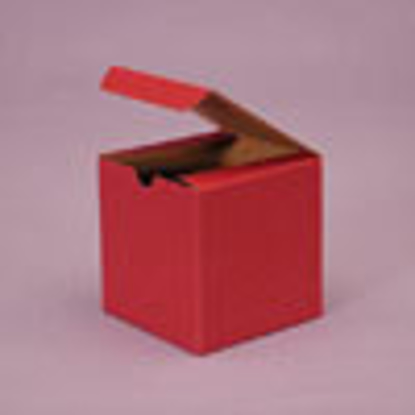 """Picture of Tinted Gift Boxes 4 x 4 x 2"""" Brick Red"""
