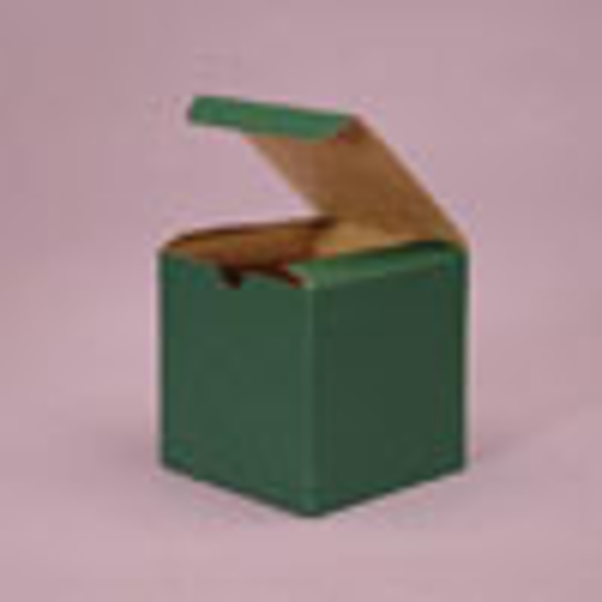 "Picture of Tinted Gift Boxes 3 X 3 X 3"" Dark Green"