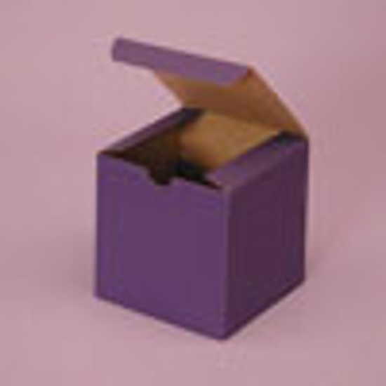 """Picture of Tinted Gift Boxes 3 X 3 X 3"""" Deep Purple"""
