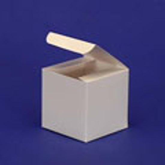 """Picture of White Alligator Gift Boxes - 4 x 4 x 4"""""""