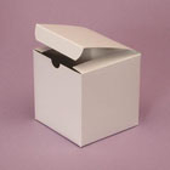 Picture of White Gloss Gift Boxes - 4 x 4 x 4""
