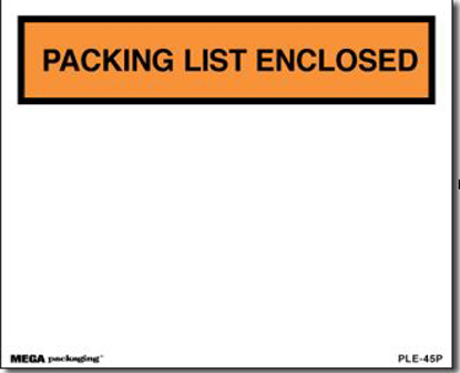 Picture of Packing List Enclosed Envelopes